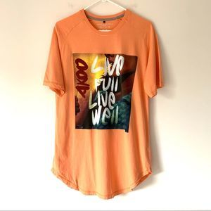 Akoo Orange Live Full Live Well T-shirt Medium